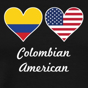 Colombian American Flag Hearts - Men's Premium T-Shirt