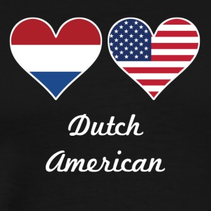 Dutch American Flag Hearts - Men's Premium T-Shirt