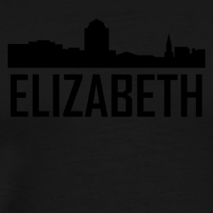 Elizabeth New Jersey City Skyline - Men's Premium T-Shirt