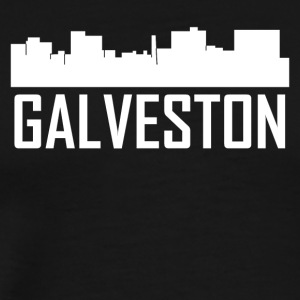 Galveston Texas City Skyline - Men's Premium T-Shirt
