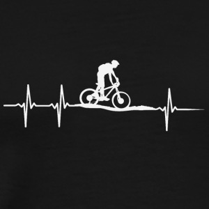 make a heartbeat design for Moutain bike - Men's Premium T-Shirt