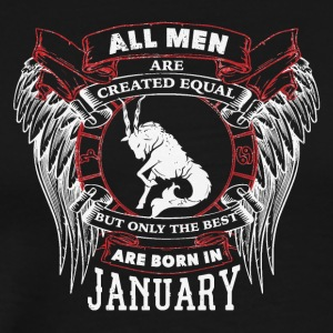 The best are born in January CAPRICORN - Men's Premium T-Shirt
