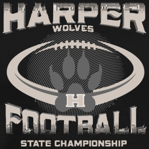 Harper Wolves H Football State Championship - Men's Premium T-Shirt