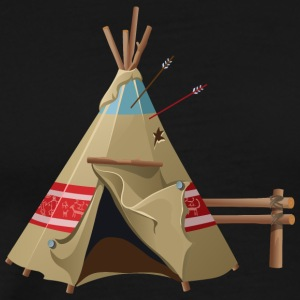 Indian wigwam house cool art illustration awesome - Men's Premium T-Shirt