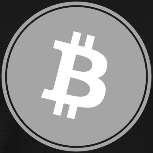 Bitcoin in Gray color. - Men's Premium T-Shirt