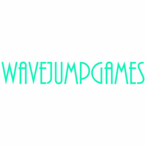 WavejumpGames (Bluish-Green Text) - Men's Premium T-Shirt