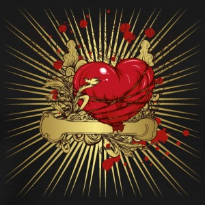 Graffiti vintage heart illustration image cool art - Men's Premium T-Shirt