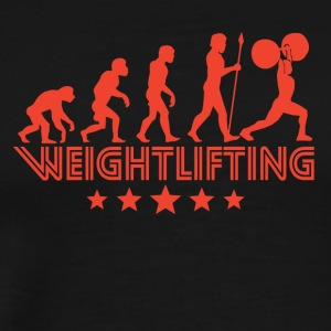 Retro Weightlifting Evolution - Men's Premium T-Shirt