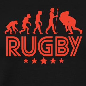 Retro Rugby Evolution - Men's Premium T-Shirt