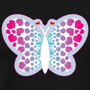 BUTTERFLY WITH HEART - Men's Premium T-Shirt