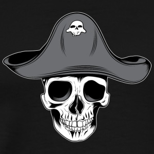 skull_pirate_with_aht - Men's Premium T-Shirt