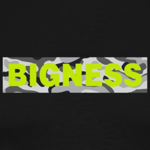 BIGNESS Grey Camo - Men's Premium T-Shirt
