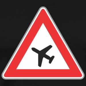 Road_Sign_airplane_triangle - Men's Premium T-Shirt