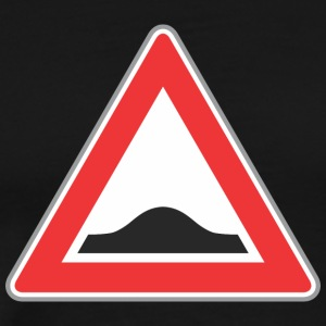 Road_Sign_Up_triangle_red - Men's Premium T-Shirt