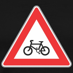 Road_sign_bicycle_red - Men's Premium T-Shirt