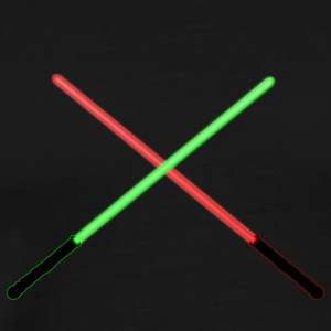 Red and Green Lightsaber Clash - Men's Premium T-Shirt