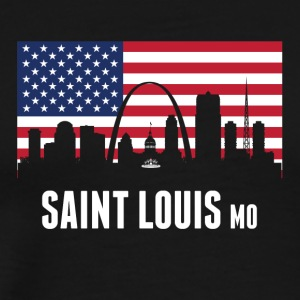 American Flag Saint Louis Skyline - Men's Premium T-Shirt