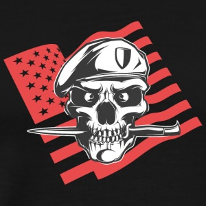 american_special_army_man_with_flag - Men's Premium T-Shirt