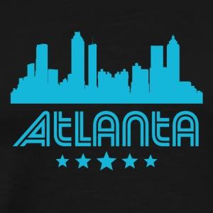 Retro Atlanta Skyline - Men's Premium T-Shirt