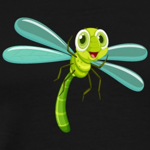 dragonfly insect flies wildlife vector cartoon art - Men's Premium T-Shirt