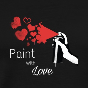 valentines day shirt with paint spray and hearts - Men's Premium T-Shirt