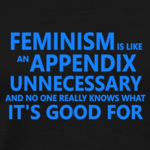 Feminism is unnecessary - Men's Premium T-Shirt