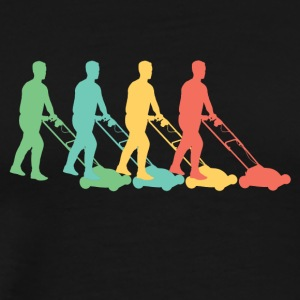 Retro Lawn Mowing Pop Art - Men's Premium T-Shirt
