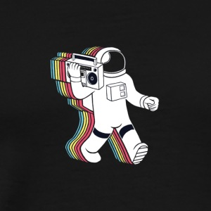 Rainabow astronaut with radio...? - Men's Premium T-Shirt