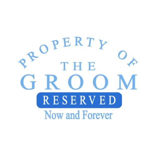 Property of the Groom (Blue) - Men's Premium T-Shirt