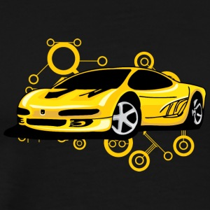 Yellow_Ferrari - Men's Premium T-Shirt