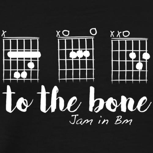 B-A-D to the bone, jam in Bm - Men's Premium T-Shirt