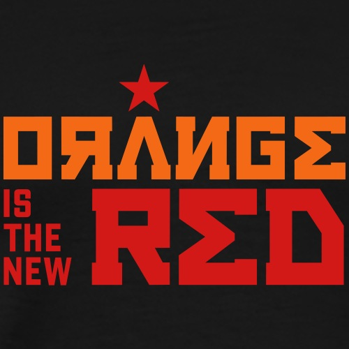 Funny Orange is the New Red - Anti-Trump Political - Men's Premium T-Shirt
