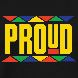 Proud (Yellow Letters) - Men's Premium T-Shirt