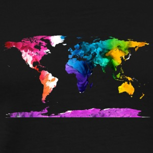 Watercolor Map - Men's Premium T-Shirt