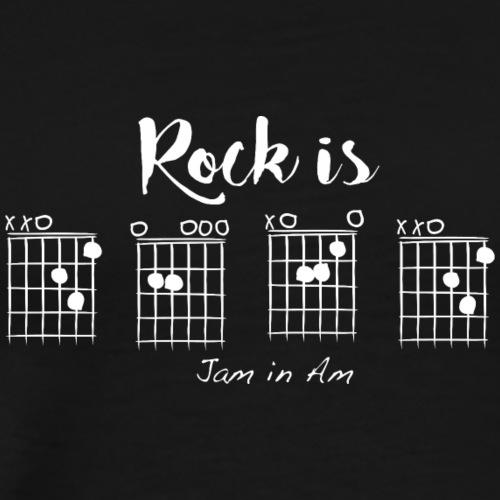 Rock is D-E-A-D, Jam in Am - Men's Premium T-Shirt