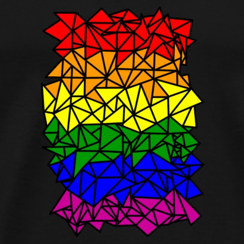 Crystallized LGBT Flag - Men's Premium T-Shirt