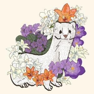Weasel & Lilies & Violets - Men's Premium T-Shirt