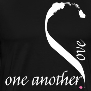 Love one another in white - Men's Premium T-Shirt