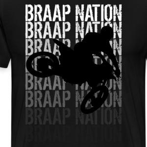 Braap Nation 3 - Men's Premium T-Shirt