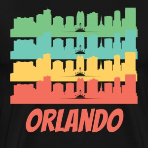 Retro Orlando FL Skyline Pop Art - Men's Premium T-Shirt