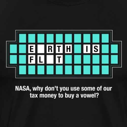 Jeopardy Flat Earth - Men's Premium T-Shirt