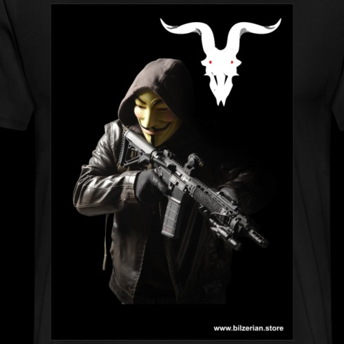 Anonymous Bilzerian Team - Men's Premium T-Shirt