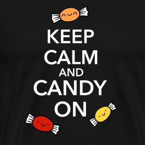 Halloween Candy Keep Calm Fun Shirt - Men's Premium T-Shirt