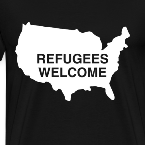 Refugees Welcome USA - Men's Premium T-Shirt