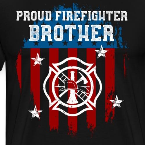 Proud Firefighter Brother - Men's Premium T-Shirt