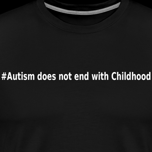 Does not end with childhood - Men's Premium T-Shirt