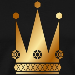 Ornate-golden-king-royal-crowns-vector - Men's Premium T-Shirt