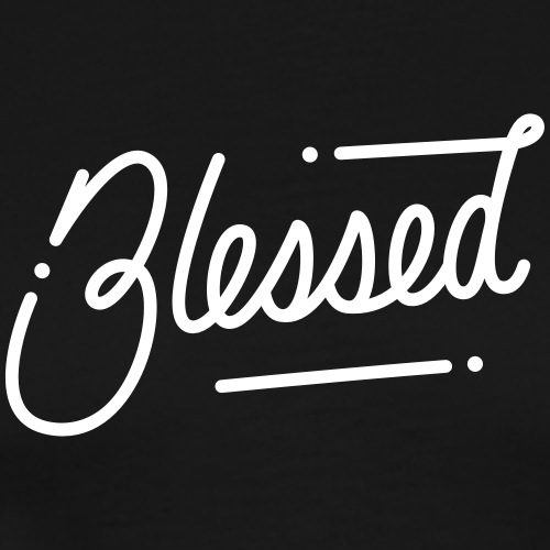 Blessed monoscript Tshirt - Men's Premium T-Shirt