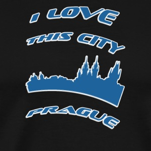 Prague I love this city - Men's Premium T-Shirt