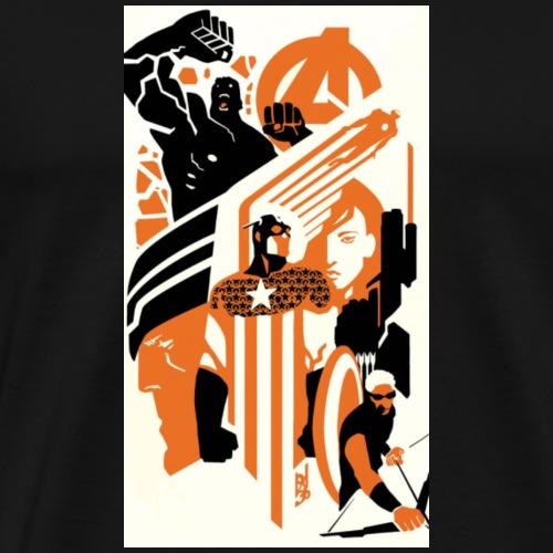 marvel marvel comics avengers iron man thor captai - Men's Premium T-Shirt